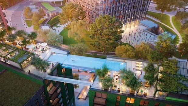 The Embassy Gardens development is in Nine Elms, the new riverside district that wraps around the former Battersea Power ...