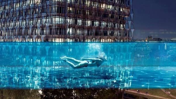 Swimming through the city at night will be a whole new experience.