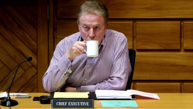 Palmerston North City Council chief executive Paddy Clifford at a council committee meeting in 2012.