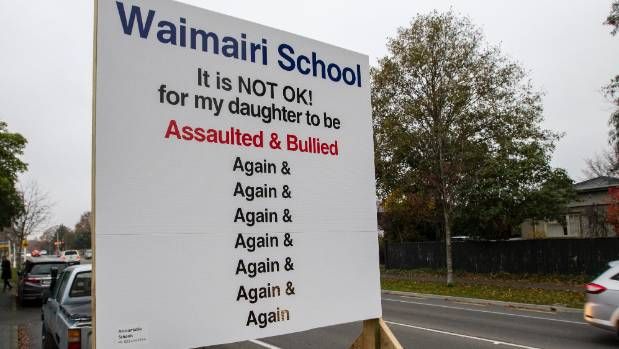 The large sign outside Christchurch's Waimairi School.