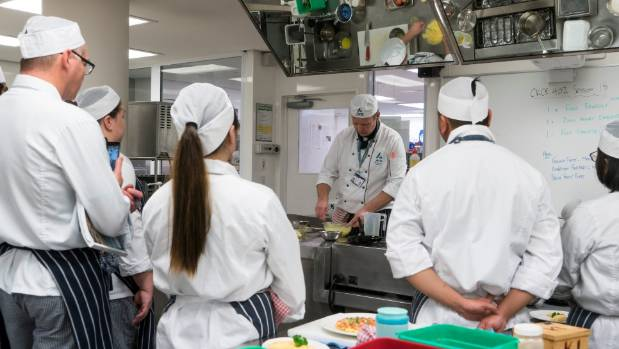 Tutor Mark Sycamore at Ara Institute of Canterbury encourages students to embrace the downsides of a career in the kitchen.