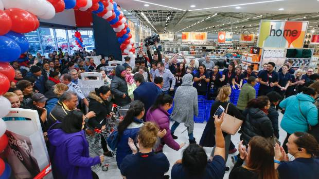 Hundreds of people thronged to the opening of a Kmart in Petone earlier this year.