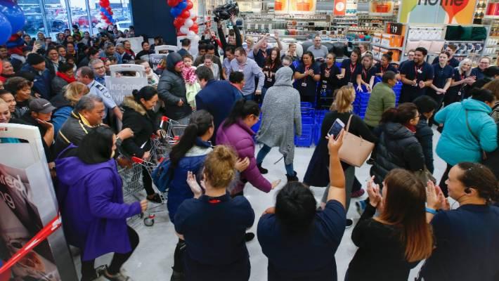 Hundreds queue for new Petone Kmart   Stuff co nz