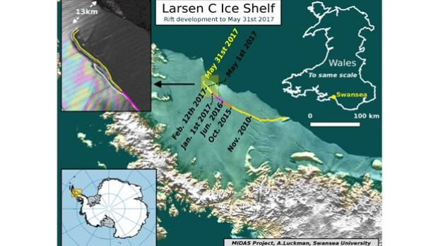 Antarctic Shelf Close to Calving Massive Iceberg, Scientists Say