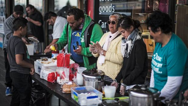 Uisa and the 'Reaching Out' team spend most weekends serving the community, offering a hot cup of tea or coffee and ...