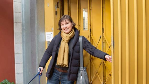 Helen accesses the apartment via an old, noisy but seemingly reliable lift.