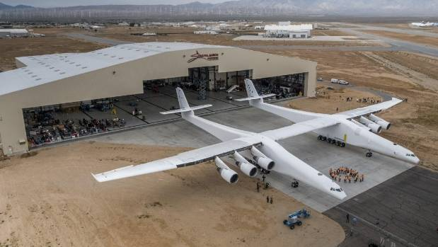 World's largest aircraft spans the length of a football field