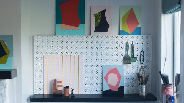 Christie's favourite art from the past adorns her home studio.