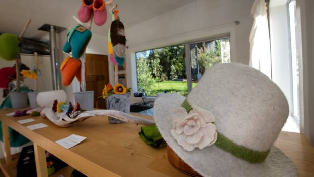 Hats and slippers are just some of the felt creations Susan Imhasly makes.