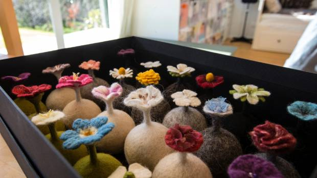 Flower balls are used for holding rings or stress release – you can squeeze them.