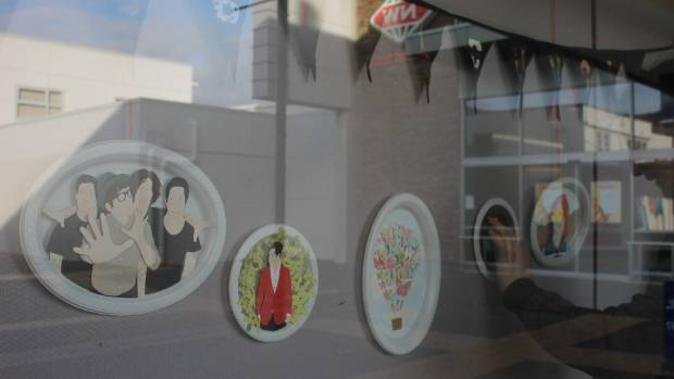 Hayley Moore co-founder of the Hobby Lounge, created these plates as a tribute to her favourite bands and characters.