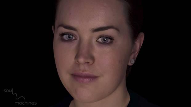 Soul Machines digital human Rachel is an online financial services assistant.