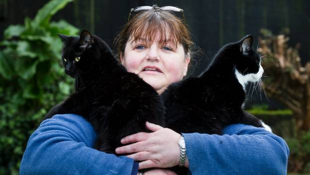 Kitten Inn founder Susan McNair with Oliver, left, and Twist. She adopted them in 2009 after they were found with a paw ...