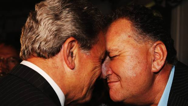 Shane Jones and Winston Peters in 2015.