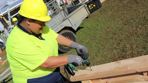 Teille McCoy is training to become a professional builder.