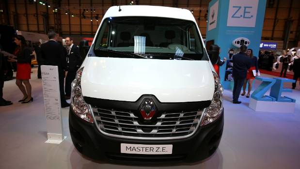 Pure-electric Master ZE is designed for city delivery and shuttle-bus work. Range is about 150km.