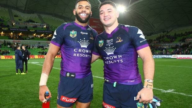 Kiwi Brandon Smith after his debut for the Melbourne Storm.