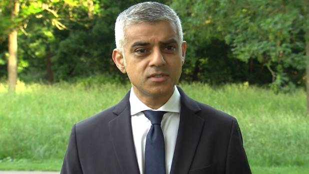 """London Mayor Sadiq Khan warned """"Londoners will see an increased police presence today and over the course of the next ..."""