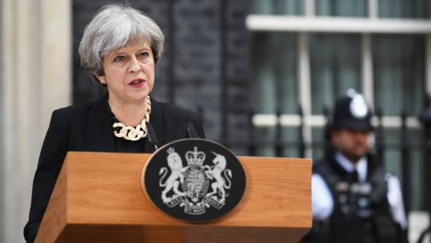 Britain's Prime Minister Theresa May is promising change.