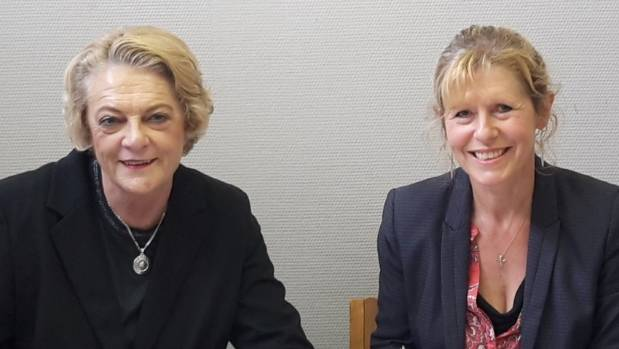 Ara Institute of Canterbury chief executive Kay Giles and South Canterbury Chamber of Commerce chief executive Wendy ...