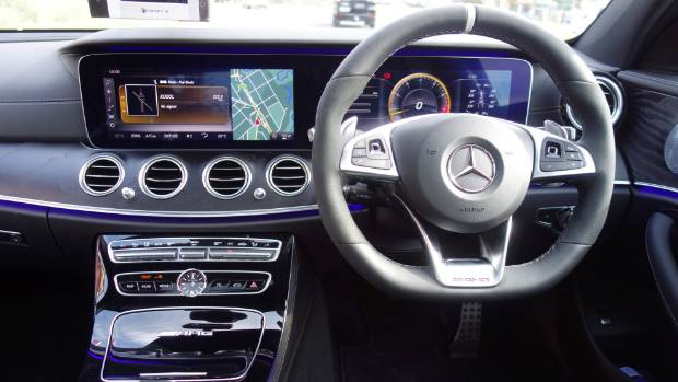 Inside, super-fast E 63S gets the same comfort and convenience features as any E-class.