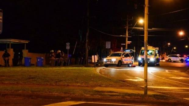 Police confirmed at 6pm they were at the scene of a shooting and hostage situation in Bay Street, Brighton.
