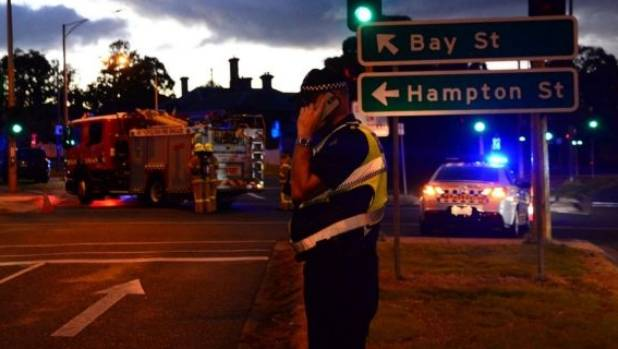 The Nepean Highway at Brighton was closed as the siege unfolded
