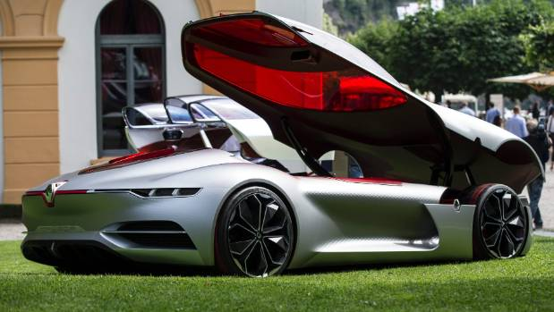 Renault's TreZor on display at the Concorso d'Eleganza Villa d'Este where it was named Most Beautiful Concept Car of the ...