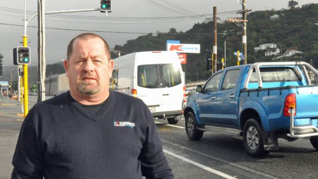 Darren Henderson wants the council to review the design of the Petone Kmart lights.