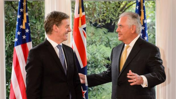 PM Bill English had some hard truths about the attitudes of New Zealanders to American presidents before US Secretary of ...