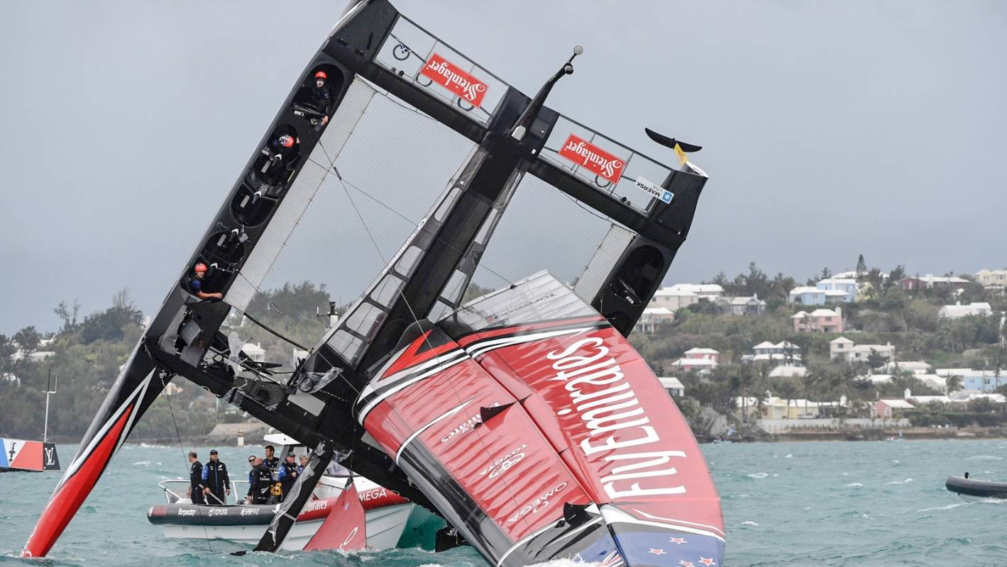 What Happened In New Zealand Image: Team New Zealand's Dramatic Pitch-pole: What Happened And