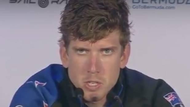 Peter Burling speaks after Team NZ's capsize.