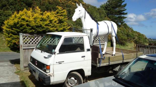 Phil Truesdale has created 120 different scenes in the back of his 1992 Mitsubishi L300 as part of his Truck Life movement.