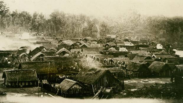 A depiction of what Parihaka looked like in 1881 before the devastating invasion.