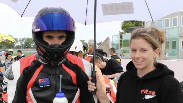 Dillon Telford and partner Jo Taylor.