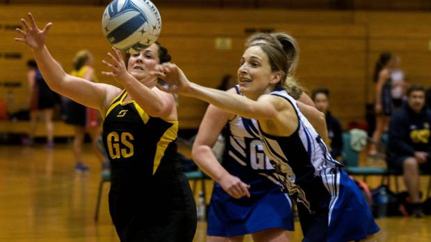 Old Boys defender Kendall MacDonald, right, has been in strong form and made the netball form side after the first round.