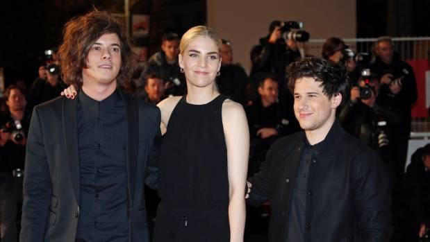 British pop trio London Grammar: Dominic 'Dot' Major, Hannah Reid and Dan Rothman.
