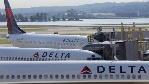 A Delta flight was forced to turn around after a bird tried to hitch a ride - in the cockpit.