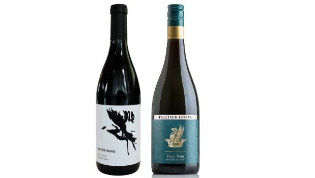 Silver Wing Reserve Pinot Noir 2014 from Waipara and Palliser Estate Pinot Noir 2015 from Marinborough in the Wairarapa.