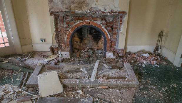 Marble fireplaces have been removed and will be exactly remade from new stone.