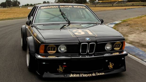 The iconic JPS BMW 635 CSi with Jim Richards at the wheel.