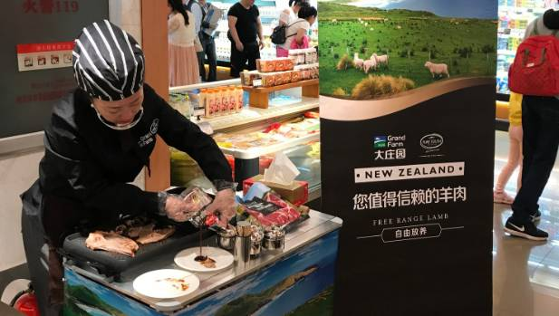 Demonstrations have been held to show ways of cooking New Zealand meat.