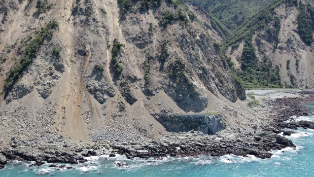 NCTIR crews have shifted more than 800,000 cubic metres of debris north of Kaikoura that came down during the earthquake ...