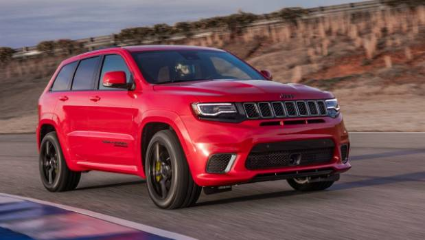 Coming soon - the similar-looking but eminently more powerful Grand Cherokee Trackhawk.