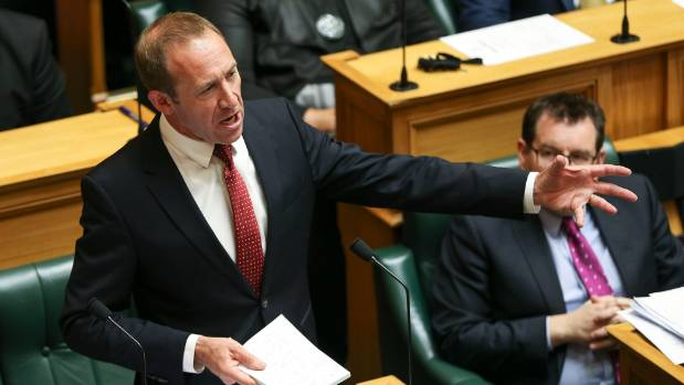 Labour leader Andrew Little speaks during the 2017 budget presentation at Parliament on May 25.