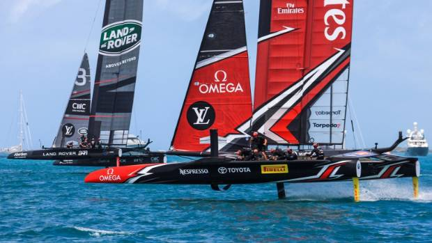 New Zealand into America's Cup challenger play-off with win over Britain
