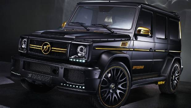 Hamann tends to go more on the subtle side with its Mercedes modifications. As you can see from this lurid G 63.