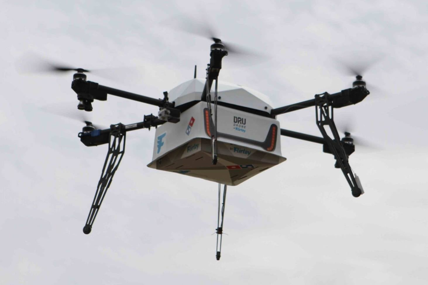 Pizza drones could \'theoretically\' fly out of sight, over private ...