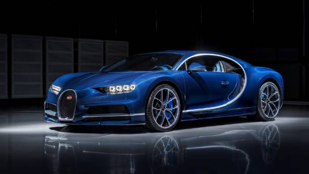 The Bugatti Chiron is powered by a 16-cylinder turbocharged engine that makes a massive 1,500 horsepower.