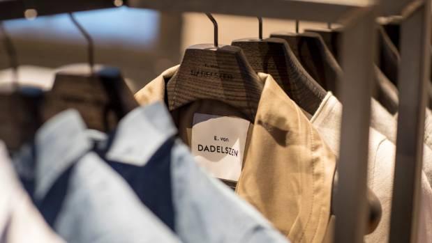 Women's suiting separates in on-trend pale shades at tailor Edward von Dadelszen's Auckland studio.